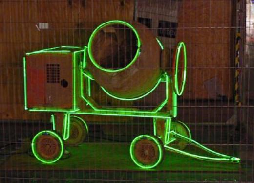 Green Mixer in Neon Lights