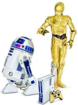 R2D2 and C3PO admire the new Star Wars Limited Edition XBox 360