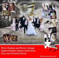 Wedding Anniversary Ideas - Unique Wedding Anniversary Gift Photo Collage Jigsaw Puzzle