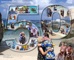 50th Wedding Anniversary Photo Collage Puzzle