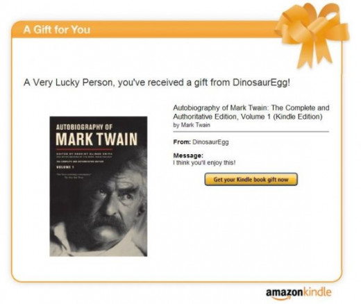 kindle book gift email