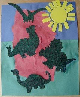 dinosaur rock collage