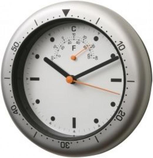 weatherproof wall clock