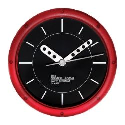 red water resistant wall clock