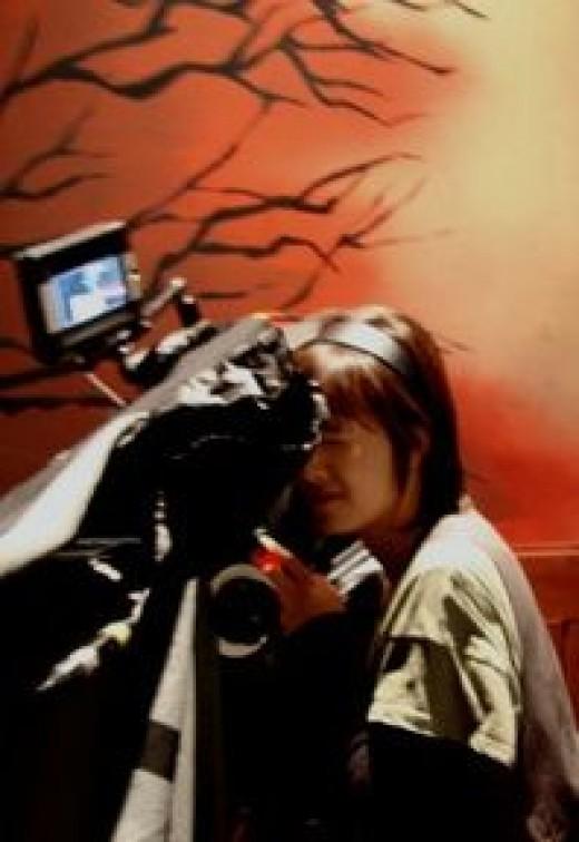 Hye Sun working as director