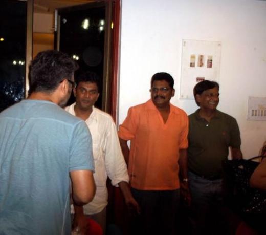 Ajith Kumar and K.S.Ravikumar in Mangatha Shooting Spot