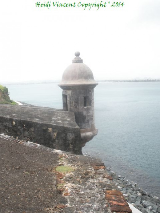 This is 1 of 4 sentry or lookout posts that surround El Morro fortress.