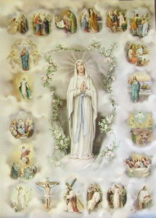 Joyful-Sorrowful-Luminous-Glorious Mystery in picture - Mary Mother of God