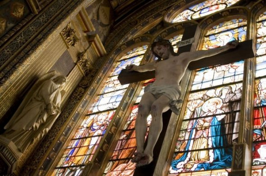 Crucifix in Church - Jesus on the Cross - Sorrowful Mystery of the Rosary