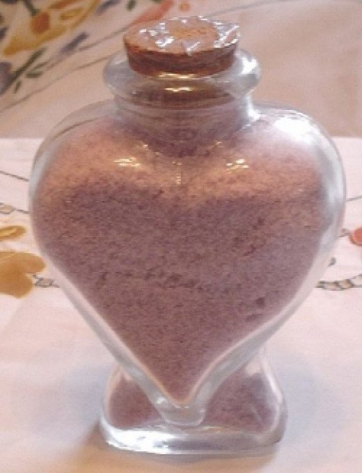 Homemade Valentines Day Bath Salt Gifts