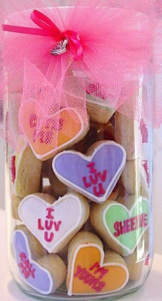 Homemade Valentines Gift Cookie Jar