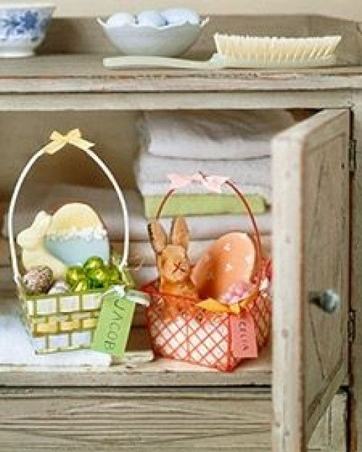 Green Gift Ideas Repurposed Easter Baskets