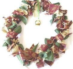 Wreath from Fabric Scraps
