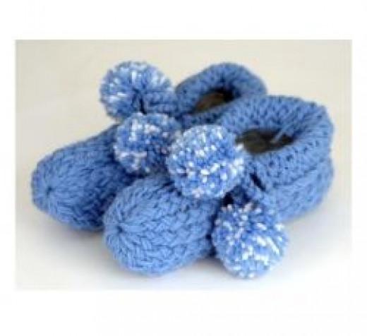 Knifty Knitter slippers