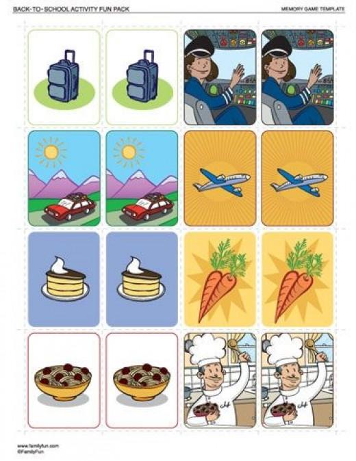Free Printable Memory Games Online