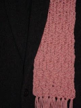 One more view of the pink scarf.