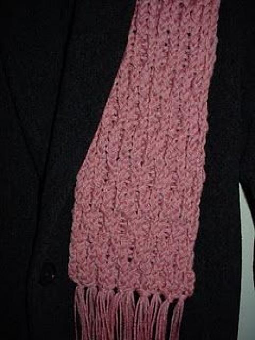 Waffle stitch scarf.