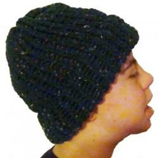 Knifty Knitter Round Loom Hat with Brim
