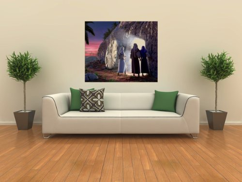 He is Risen Wall Decal - Living Room Easter Decoration