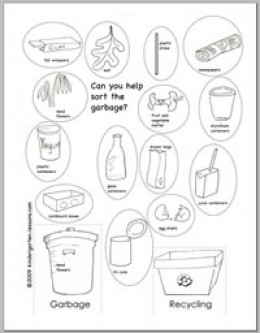 Printables Recycling For Kids Worksheets recycling worksheets for kids kindergarten