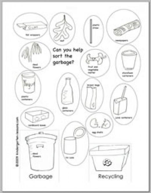 recycle worksheet - Elleapp