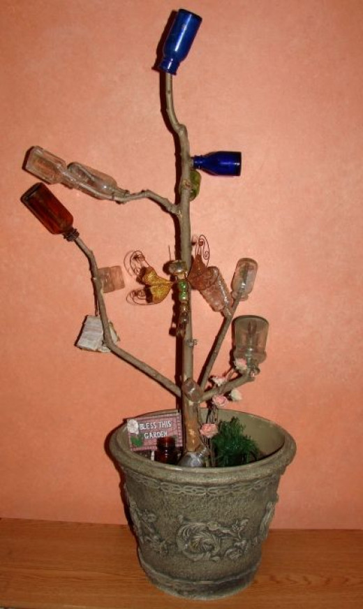 Portable Bottle Tree