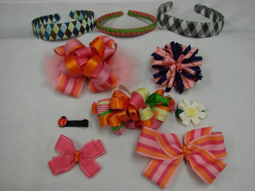 Variety of Girls Hair Bows and Headbands that You Can Learn How to Make