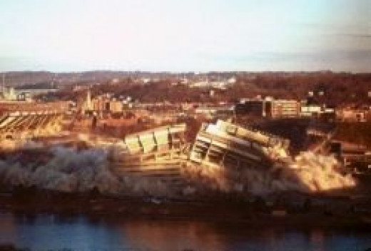 Three Rivers Stadium Implosion, Source: Timothy R. Hall
