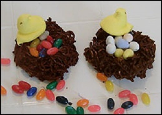 Chocolate bird nest