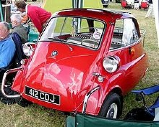 BMW Isetta 3 wheeler car
