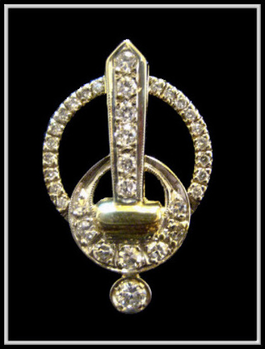 Antique and new Diamond sword pendant designed by me
