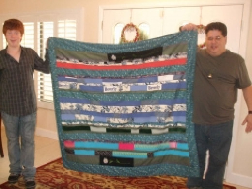 Memory Quilt - Barry and Eric