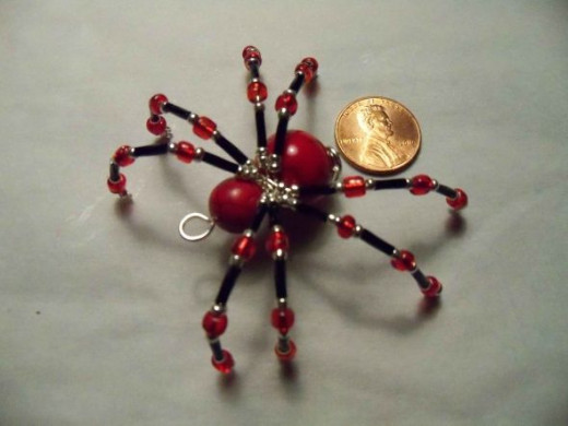 The Christmas Spider - Red, Black, and Silver