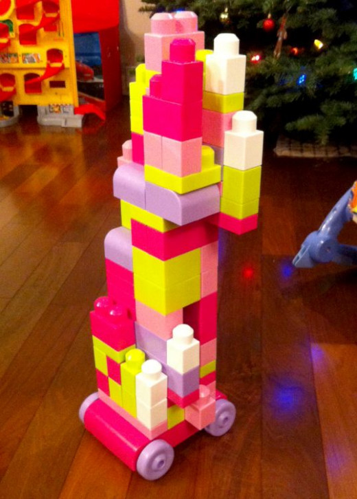 My daughter's masterpiece - a tall car.