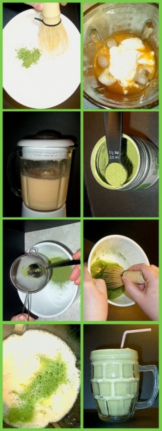 How to Make a Green Matcha Ice Beverage