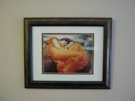 The Flaming June portrait by Frederic Leighton is one of my favorites. Every time I look at it I feel a sense of warmth and peace.