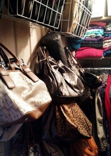 Wall of purses.