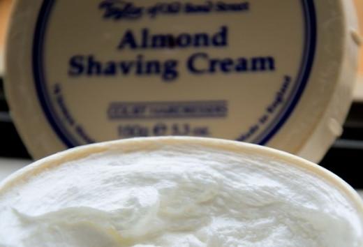 T.O.B Almond Shaving Cream.