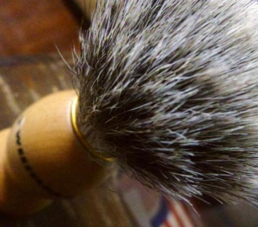 The tweezerman shaving brush, a basic and affordable shaving brush for a beginner.