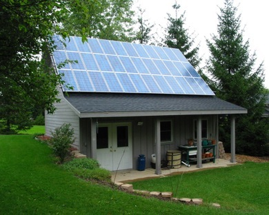 A House Powered By Solar Energy