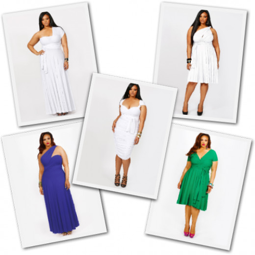 Convertible Wrap Dresses from Monif C