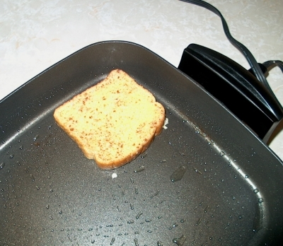 Add to frying pan for about two minutes each side until golden brown.