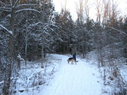 Two legged and four legged love the trail.