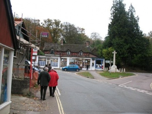 The village of Burley in The New Forest