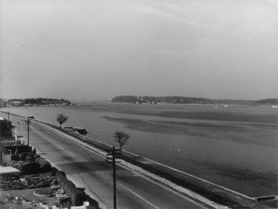 Sandbanks In The 1950's Looking Across Poole HarbourTo Brownsea Island