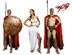 300 Spartans Group Costume