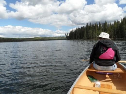 canoeing Gregg Lake