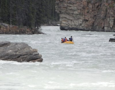 Drifting The Athabasca Below Athabasca Falls