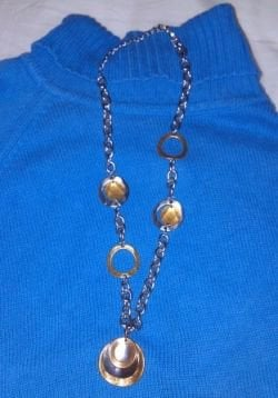 Photo mine.  My favorite two tone Premier necklace.