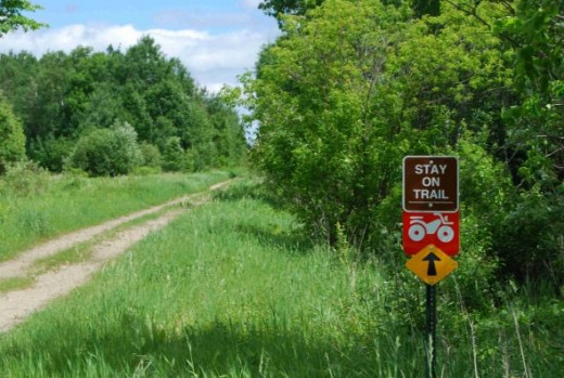 Blue Ox Trail heading north from Littlefork.